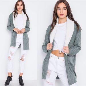 EMILY Softest Long Sleeve Cardigan - olive